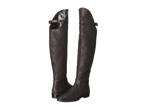 Stuart Weitzman - Needaride (Black Wood Snake) Women's Zip Boots