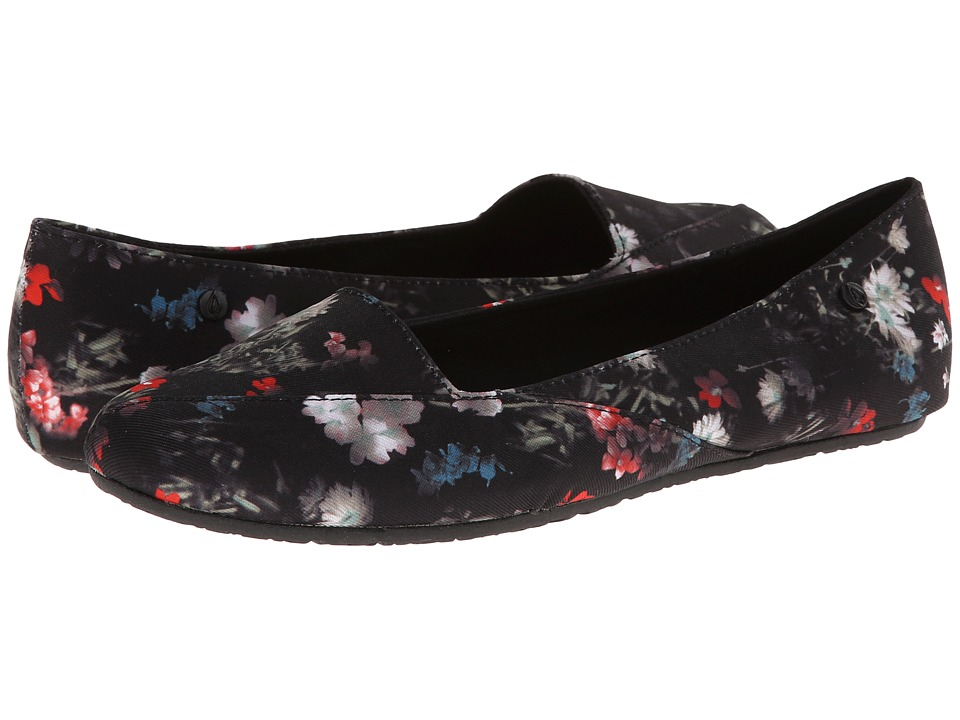Volcom - Game On (Black Floral Print) Women