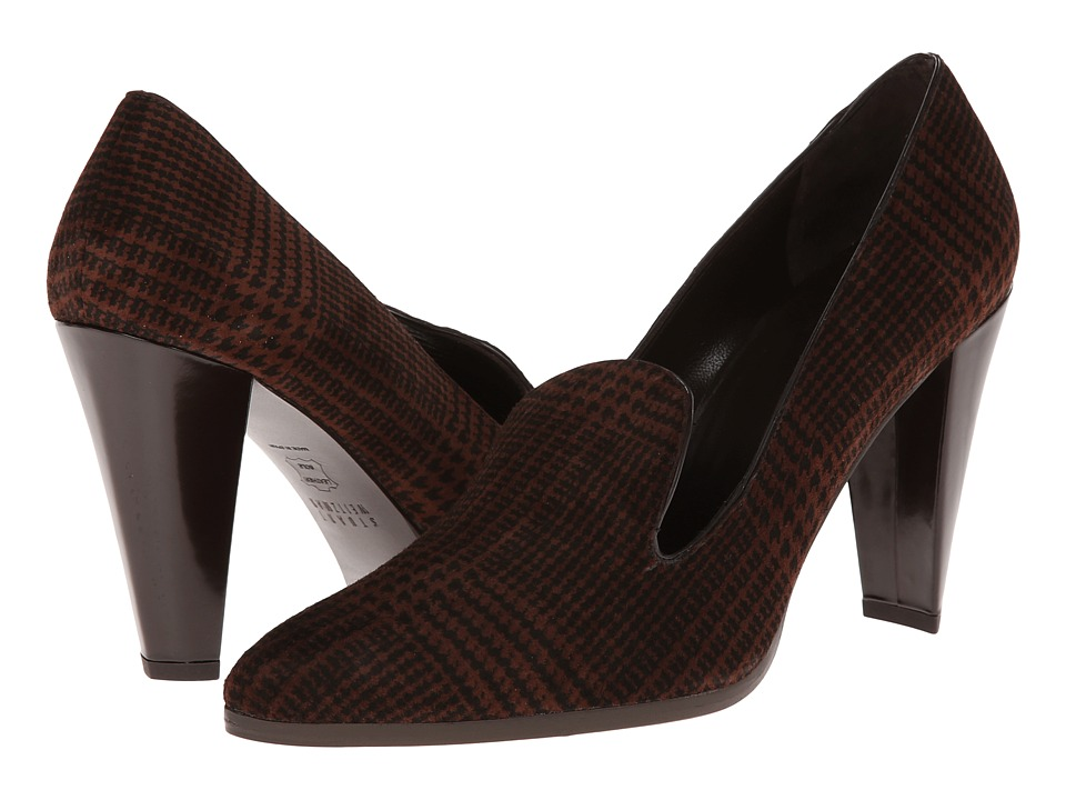 Stuart Weitzman - Upinsmoke (Walnut Plaid Suede) High Heels