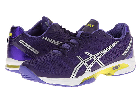 ASICS - Gel-Solution Speed 2 (Purple/Silver/Lime) Women's Tennis Shoes