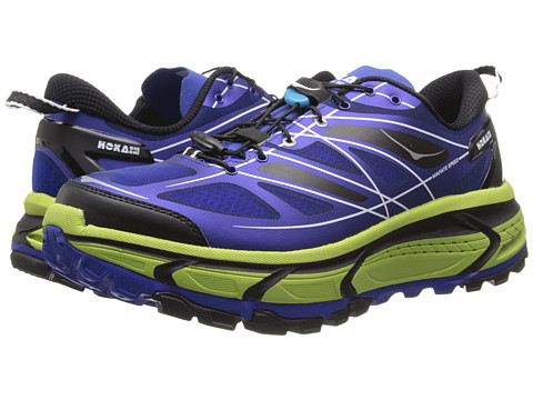 Hoka One One - Mafate Speed (Blue/Lime/Black) Men's Running Shoes