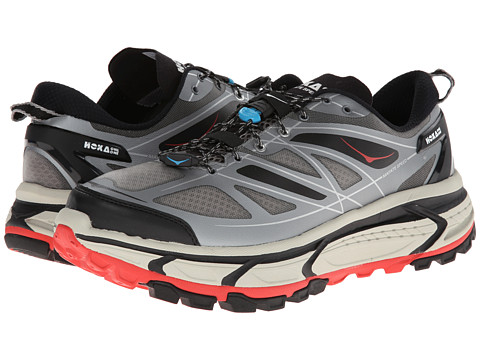 Hoka One One - Mafate Speed (Grey/Black/Red) Men's Running Shoes