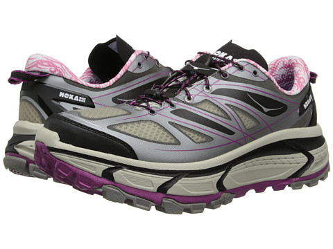Hoka One One - Mafate Speed (Grey/Black/Fushia) Women's Running Shoes