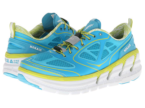 Hoka One One - Conquest (Aqua/White/Acid) Women's Running Shoes