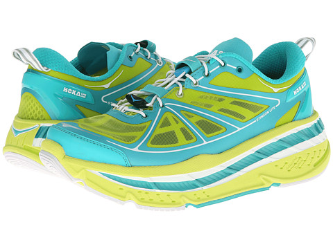 Hoka One One - Stinson Lite (Acid/Aqua/White) Women's Running Shoes