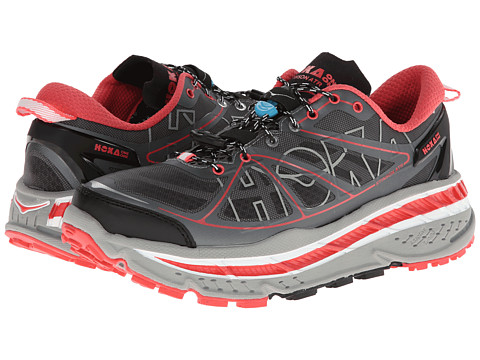 Hoka One One - Stinson ATR (Grey/Coral/White) Women's Running Shoes