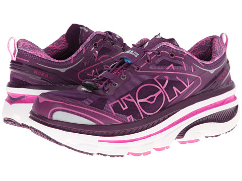 Hoka One One - Bondi EVO (Plum/White/Fushia) Women's Running Shoes