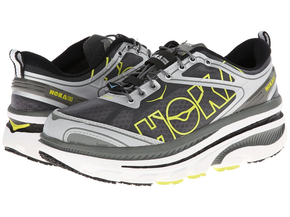 Hoka One One - Bondi 3 (White/Silver/Citrus) Men's Running Shoes