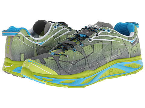 Hoka One One - Huaka (Lime/Anthracite/Cyan) Men's Running Shoes