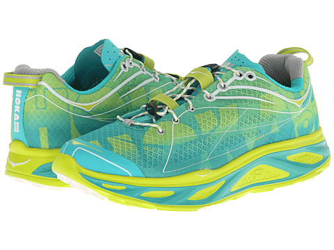Hoka One One - Huaka (Acid/Aqua/White) Women's Running Shoes