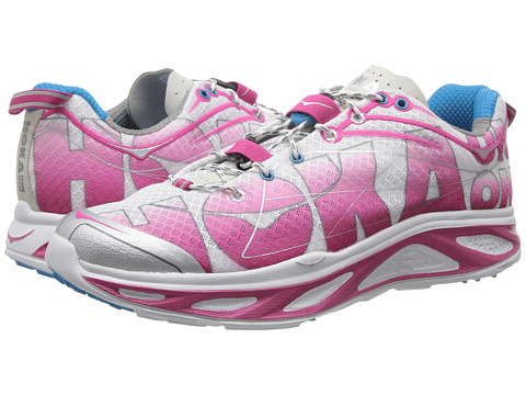 Hoka One One - Huaka (White/Pink/Grey) Women's Running Shoes