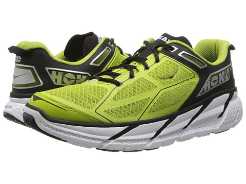 Hoka One One - Clifton (Lime/Black/White) Men's Running Shoes