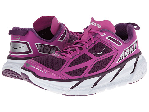 Hoka One One - Clifton (Plum/Fuchsia/White) Women's Running Shoes