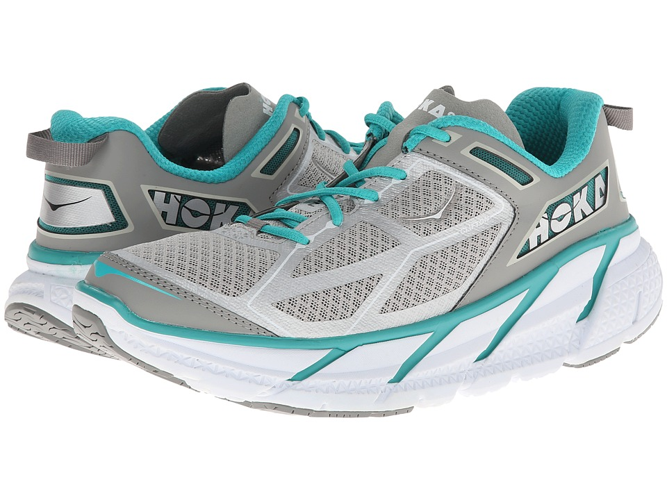 Hoka One One - Clifton (Aqua/Grey/White) Women's Running Shoes