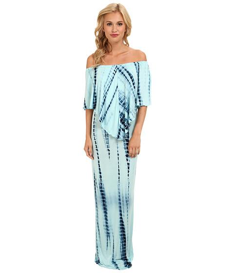 Culture Phit - Ayden Dress (Baby Blue Tye Dye) Women's Dress