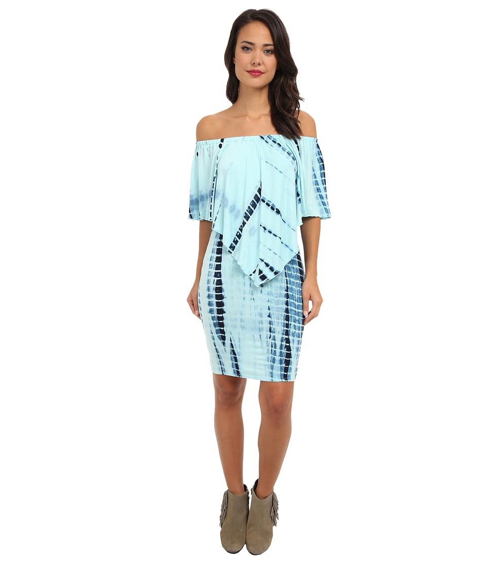 Culture Phit - Nalah Dress (Baby Blue Tye Dye) Women's Dress