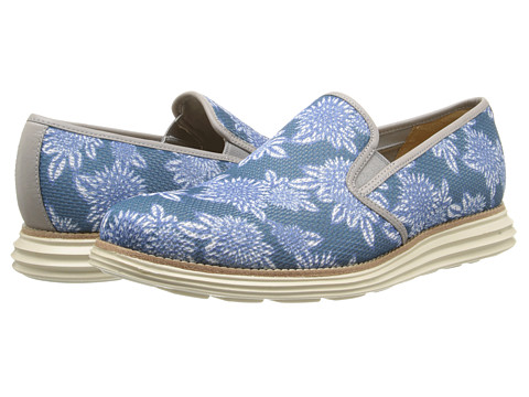 Cole Haan - Lunargrand Two Gore (Alloy Tropical Print) Men's Slip on Shoes