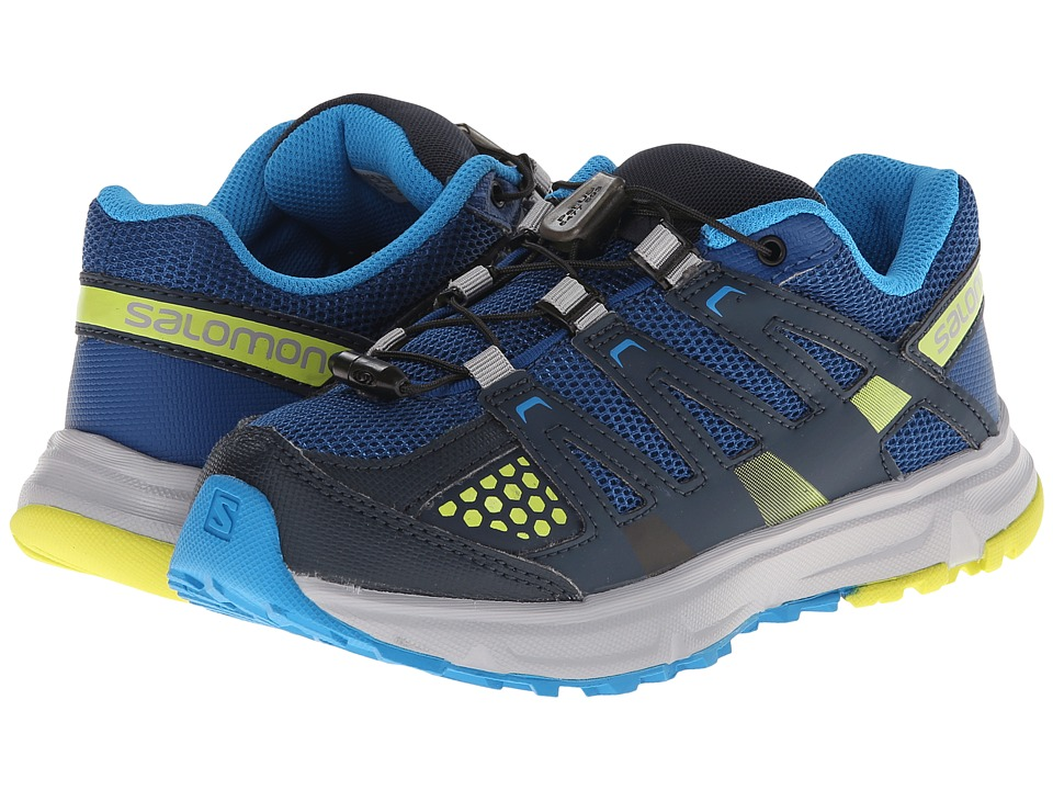 Salomon Kids - XR Mission J (Little Kid/Big Kid) (Gentiane/Deep Blue/Gecko Green) Boys Shoes