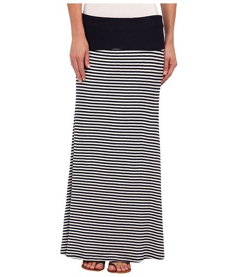 Karen Kane - Contrast Maxi Skirt (Stripe) Women's Skirt