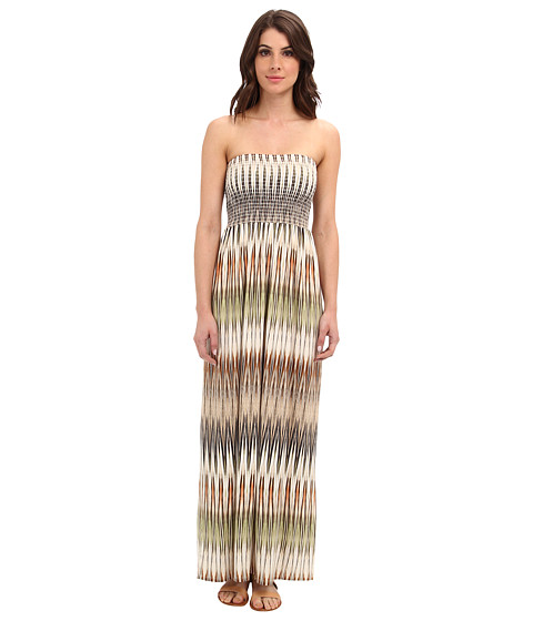 Karen Kane - Marrakech Ikat Maxi Dress (Green) Women