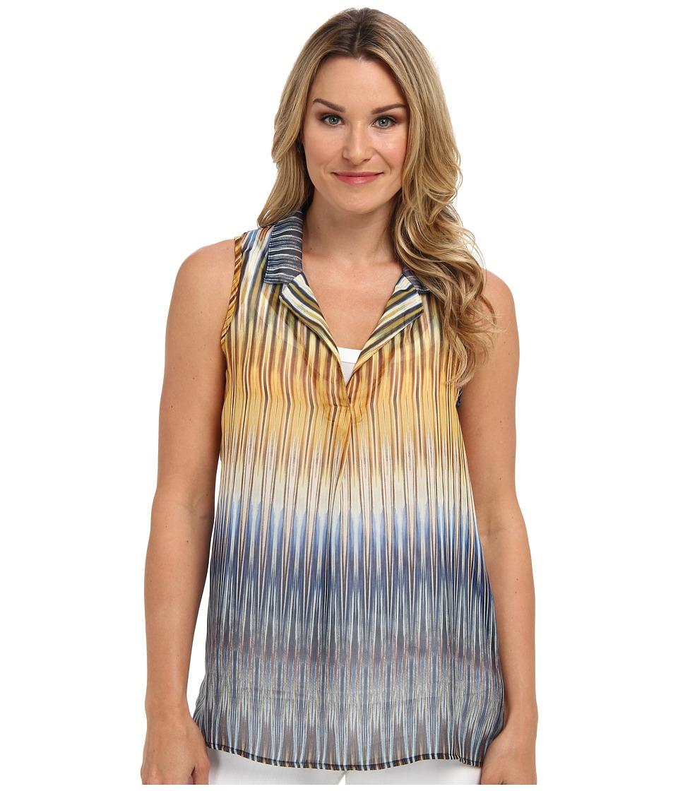 Karen Kane - Desert Ikat Sleeveless Shirt (Multi) Women's Blouse