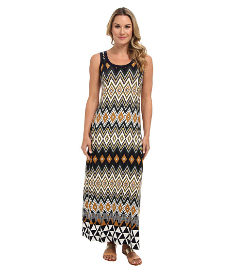 Karen Kane - Egyptian Diamond Print Maxi (Multi) Women's Dress