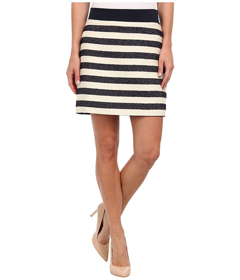 Karen Kane - Stripe Tweed Mini Skirt (Stripe) Women