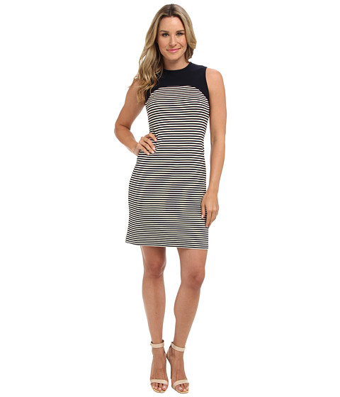 Karen Kane - Contrast Shoulder Stripe Dress (Stripe) Women's Dress