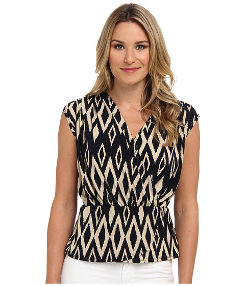 Karen Kane - Extended Sleeve Wrap Top (Navy) Women's Blouse