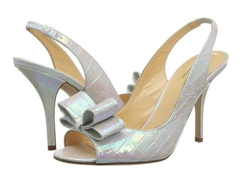 Kate Spade New York - Charm Heel (White Hologram Crocco Print) High Heels
