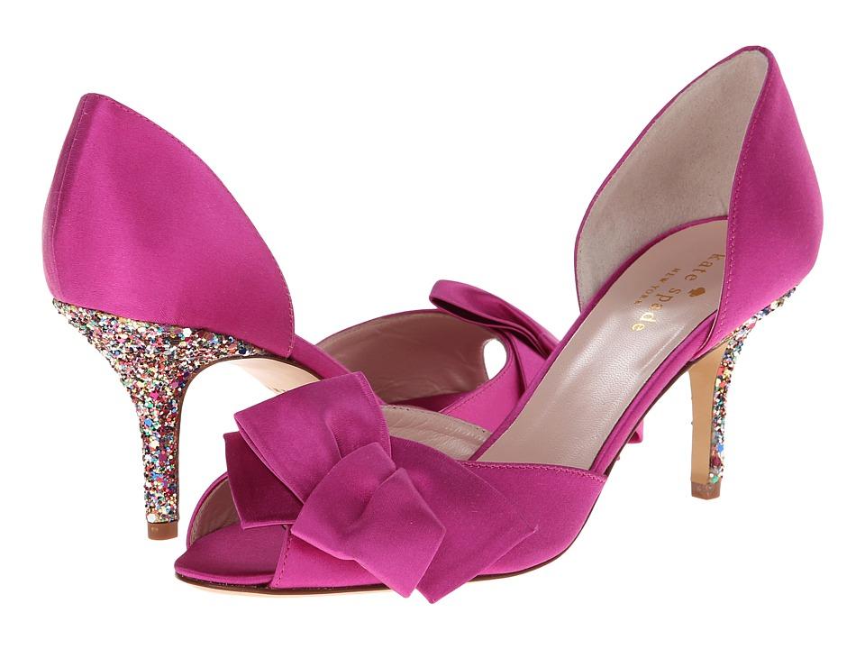 Kate Spade New York - Sala (Fuschia Satin/Multi Glitter Heel) High Heels