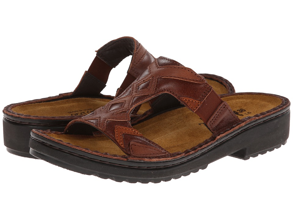 Naot Footwear - Laticia (Luggage Brown Leather/Cinnamon Brown Leather/Hawaiian Brown Nubu) Women