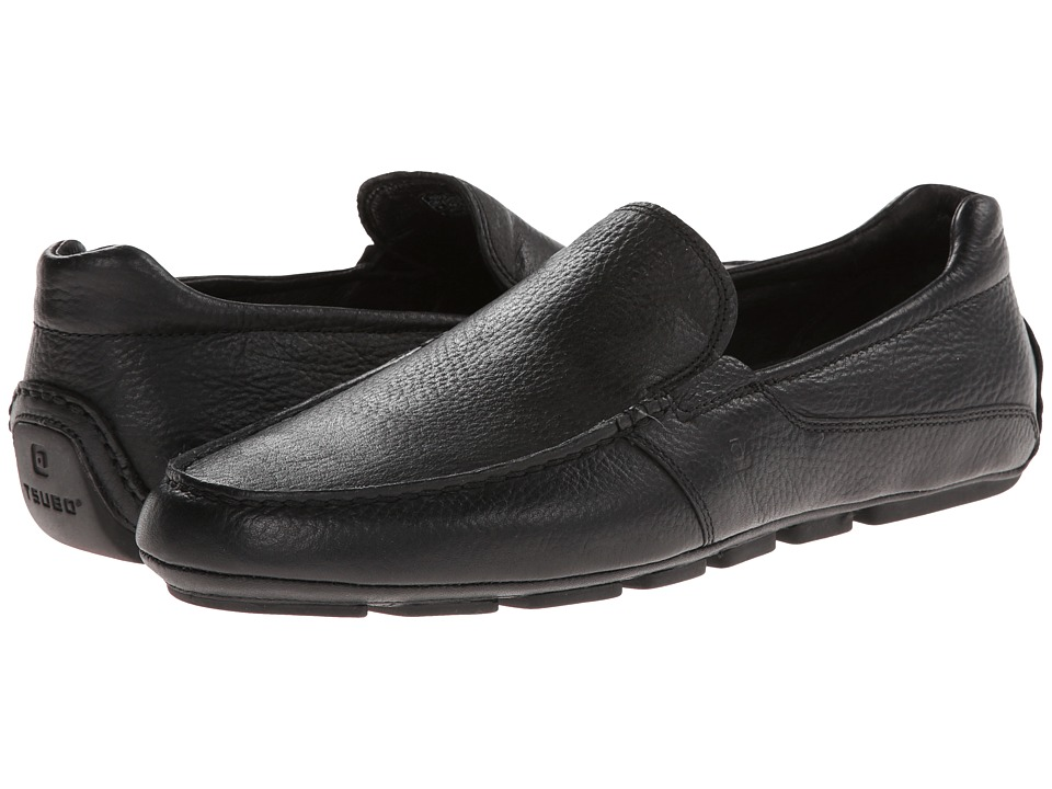 Tsubo - Belton (Black Leather) Men's Slip on Shoes