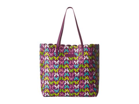 Vera Bradley - Scallop Tote (Flutterby Butterflies) Tote Handbags