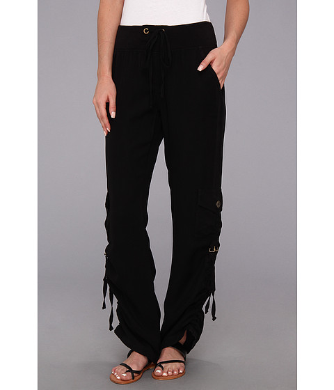 XCVI - Fallon Ruched Pant (Black) Women's Casual Pants