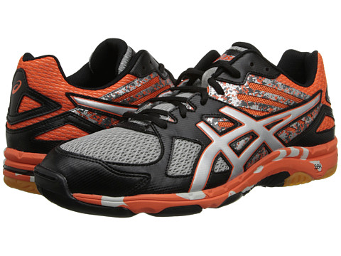 ASICS - GEL-Flashpoint 2 (Black/Silver/Flame) Men's Volleyball Shoes