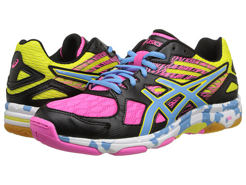 ASICS - GEL-Flashpoint 2 (Black/Pool/Hot Pink) Women's Shoes
