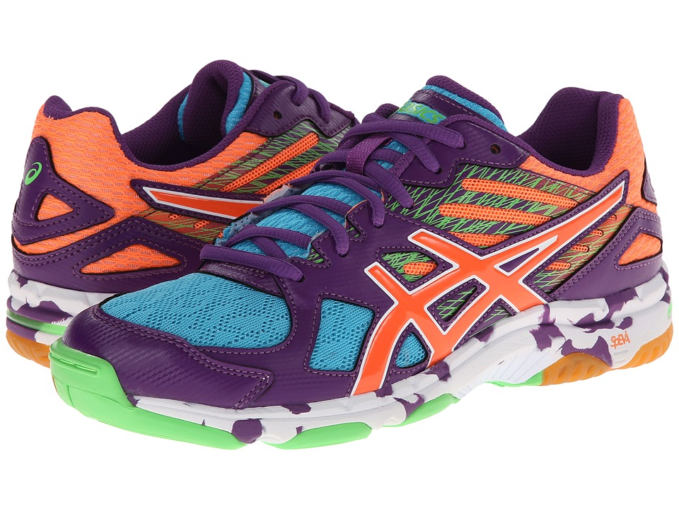 ASICS - GEL-Flashpoint 2 (Grape/Peach/Green Gecko) Women