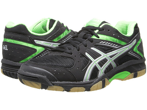 ASICS - GEL-1150V (Black/Neon Green/Silver) Women's Volleyball Shoes