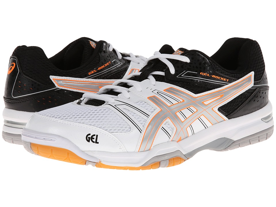 ASICS - GEL-Rocket 7 (White/Silver/Black) Men