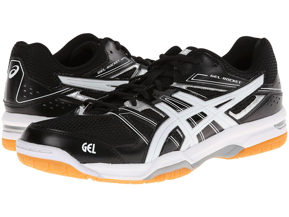 ASICS GEL-Rocket 7 (Black/White/Silver) Men