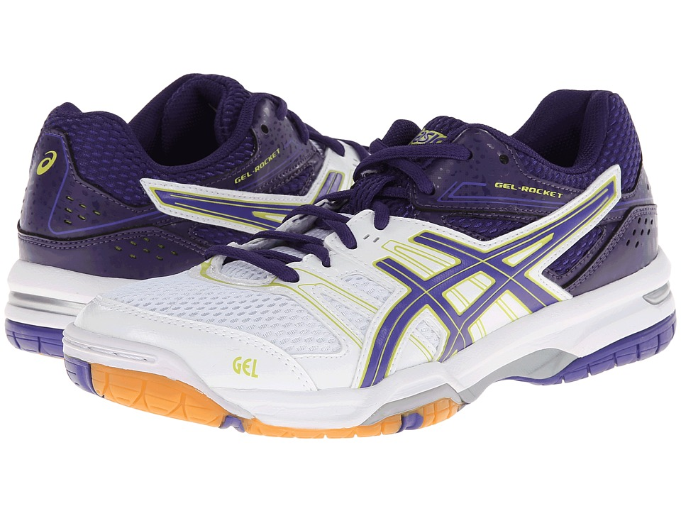 ASICS - GEL-Rocket 7 (White/Lavender/Purple) Women