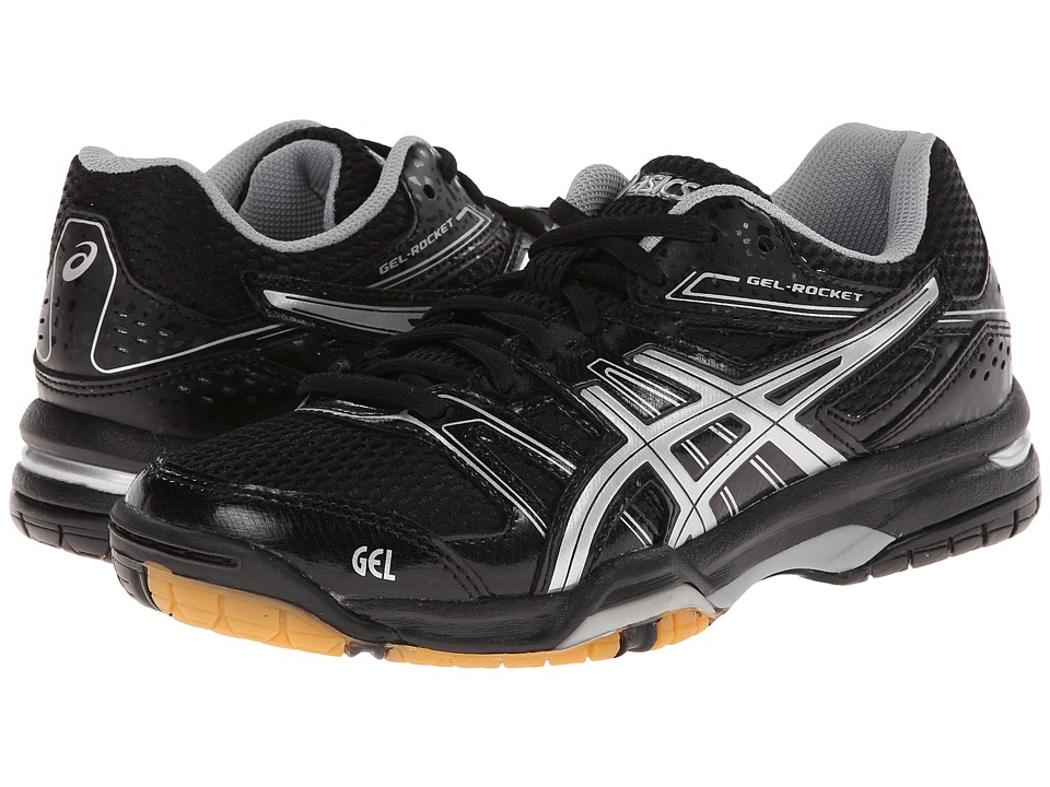 ASICS - GEL-Rocket 7 (Black/Silver) Women's Shoes