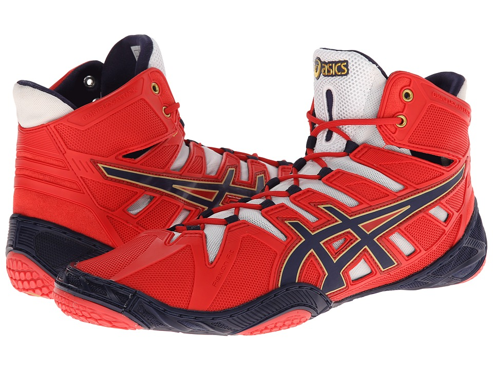 ASICS - OmniFlex-Attack (Red/Navy/White) Wrestling Shoes