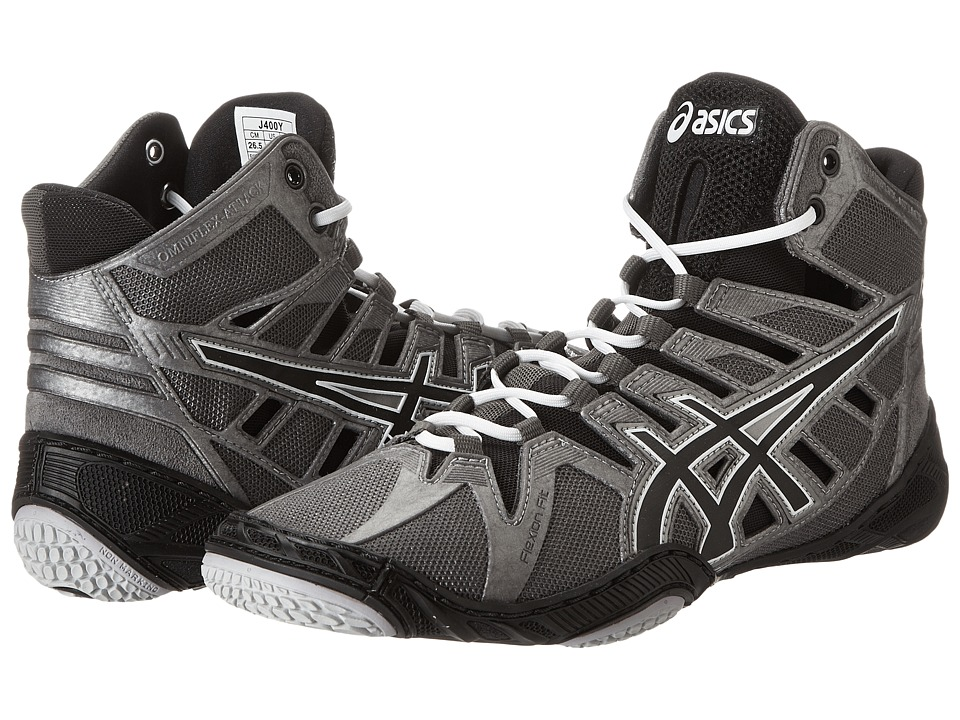 ASICS - OmniFlex-Attack (Charcoal/Black/White) Wrestling Shoes