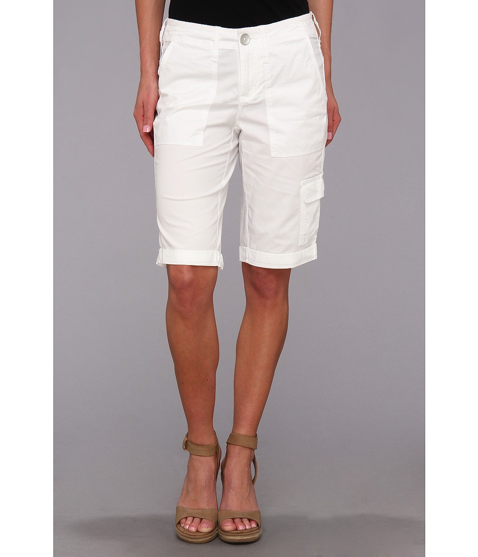DKNY Jeans - Poplin Cargo Bermuda Short (White) Women's Shorts plus size,  plus size fashion plus size appare