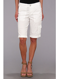 SALE! $26.99 - Save $23 on DKNY Jeans Poplin Cargo Bermuda Short (White) Apparel - 45.47% OFF $49.50