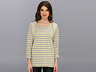 DKNY Jeans L/S Stripe French Terry Pullover Hoodie (Sunset)