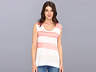 DKNY Jeans Painted Stripe Sharkbite Tee