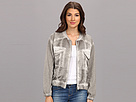 DKNY Jeans Cold Pigment Wash Mix Media Bomber Jacket